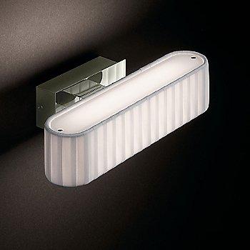 Satin Nickel / Cream Translucent Ribbon