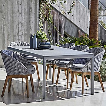 Light Grey with Teak Legs color, in use