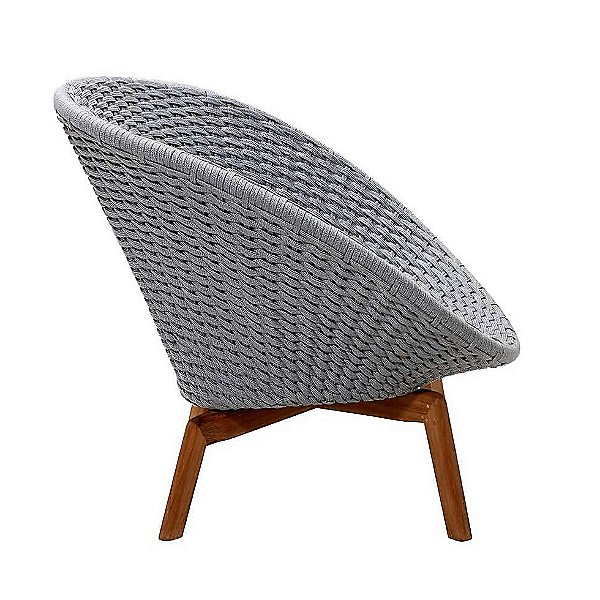 Peacock Soft Rope Lounge Chair With Teak Legs