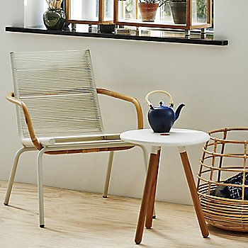 White pictured with the Area Tablestool and Sweep Round Rattan Basket (sold separately)