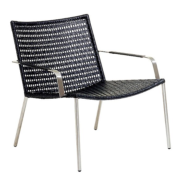 Straw Flat Weave Lounge Chair