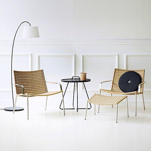 Straw Flat Weave Footstool