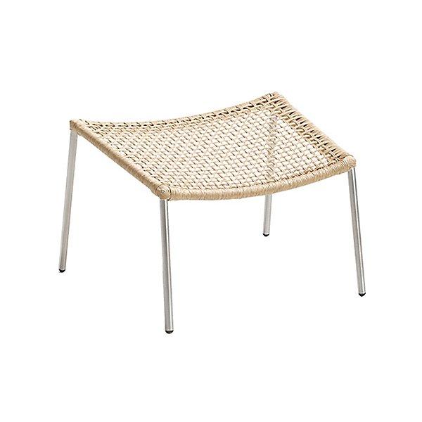 Straw Round Weave Footstool