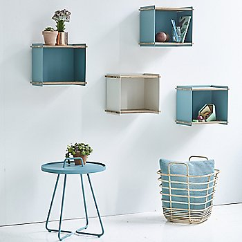 Pictured with the Box Wall Boxes and On the Move Side Table (sold separately)