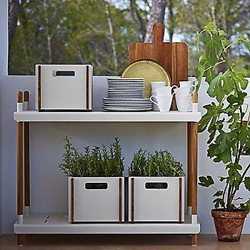 White pictured with the Frame Shelving System (sold separately)