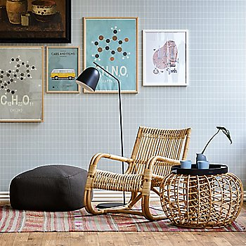Natural Rattan pictured with the Nest Footstool (sold separately)