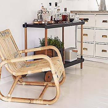 Natural Rattan pictured with the Frame Trolley (sold separately)