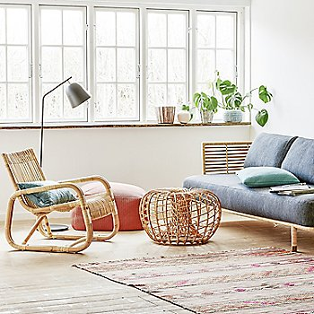 Natural Rattan pictured with the Divine Footstool and Nest Footstool (sold separately)