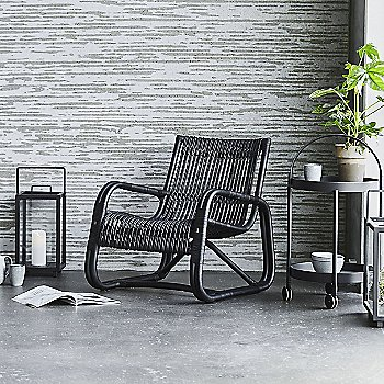 Curve Lounge Chair with Roll Trolley and Lighthouse Lantern