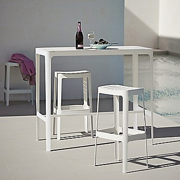 White pictured with the Cut Bar Chairs (sold separately)