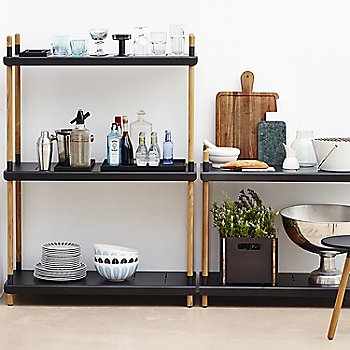 Black High stacked pictured with the Area Tablestool and Box Storage Box (sold separately)