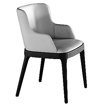 Bianco Soft Leather/Stained Oak: Matte Black