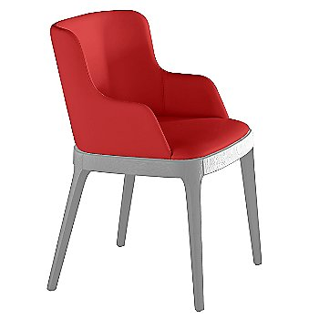 Soft Leather: Rosso Corsa Leather/Stained Oak: Matte White