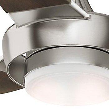 Brushed Nickel with Walnut finish