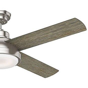54 inch / Brushed Nickel with Brushing Barnwood Blades finish / Detail view