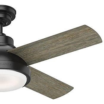 44 inch / Matte Black with Brushing Barnwood Blades finish / Detail view