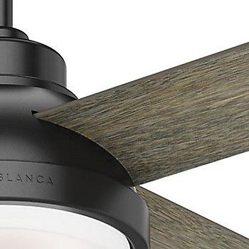 54 inch / Matte Black with Brushing Barnwood Blades finish / Detail view