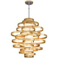Gold Large Pendant Light