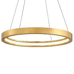Jasmine LED Circular Frame Pendant Light