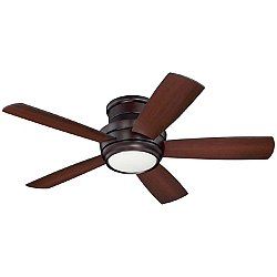 Tempo Hugger Ceiling Fan (Brz w/ Wlt & Black/44 In)-OPEN BOX