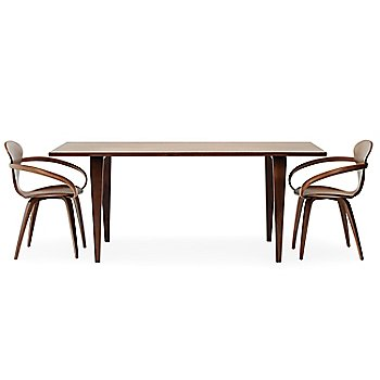 Classic Walnut finish /  with Cherner Rectangular Table
