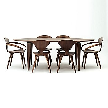 Classic Walnut finish / with Cherner Side Chairs and Oval Table