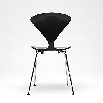 Ebony Lacquer Seat, Chrome Base option / Rear view