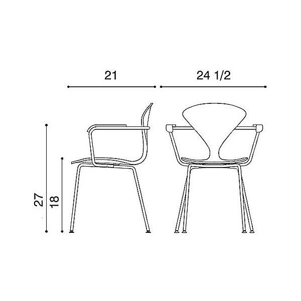 Cherner Metal Base Armchair