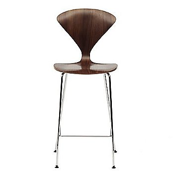 Classic Walnut, Metal Base Stool