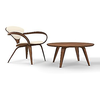 Cherner Lounge Chair with Arms / Upholstered / Classic Walnut