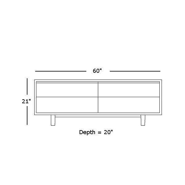 Multiflex 4-Drawer Credenza
