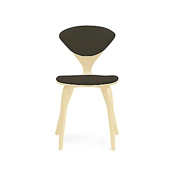 Shown in Beech: Natural Size / Vincenza Leather: Black Color