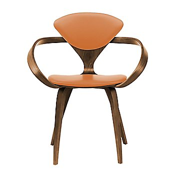 Natural Walnut Seat & Legs, Solid Walnut Arms / Vincenza Leather VZ-2125