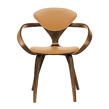Natural Walnut Seat & Legs, Solid Walnut Arms / Vincenza Leather VZ-2111
