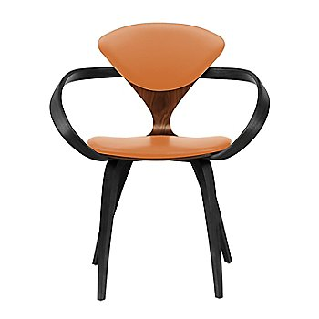 Classic Walnut Seat, Ebony Lacquer Arms & Legs / Vincenza Leather VZ-2125