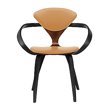 Classic Walnut Seat, Ebony Lacquer Arms & Legs / Vincenza Leather VZ-2111