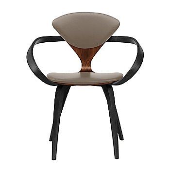 Classic Walnut Seat, Ebony Lacquer Arms & Legs / Vincenza Leather VZ-2101