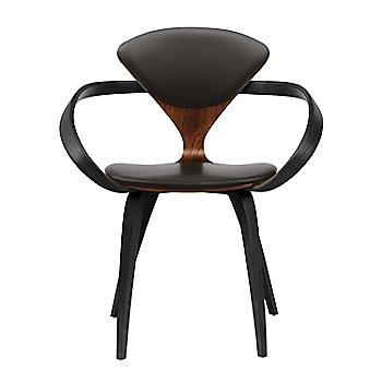 Classic Walnut Seat, Ebony Lacquer Arms & Legs / Vincenza Leather VZ-BLCK
