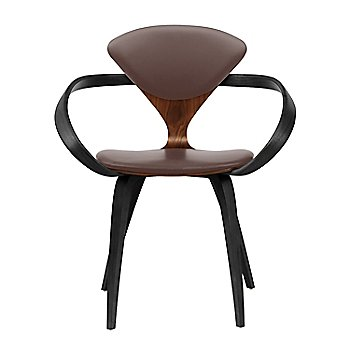 Classic Walnut Seat, Ebony Lacquer Arms & Legs / Vincenza Leather VZ-2115
