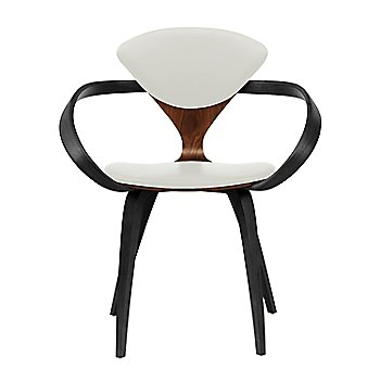 Classic Walnut Seat, Ebony Lacquer Arms & Legs / Divina 106