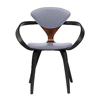Classic Walnut Seat, Ebony Lacquer Arms & Legs / Divina 173