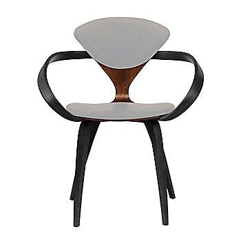 Classic Walnut Seat, Ebony Lacquer Arms & Legs / Divina 224