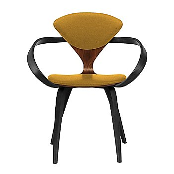 Classic Walnut Seat, Ebony Lacquer Arms & Legs / Divina 246