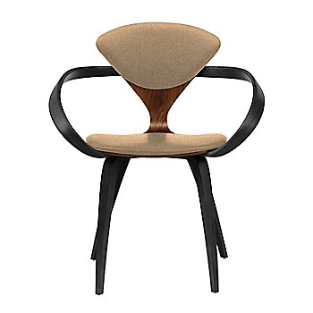 Classic Walnut Seat, Ebony Lacquer Arms & Legs / Divina 334