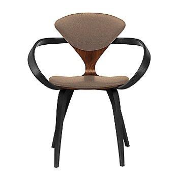 Classic Walnut Seat, Ebony Lacquer Arms & Legs / Divina 356
