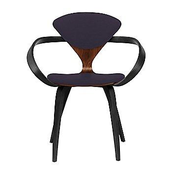 Classic Walnut Seat, Ebony Lacquer Arms & Legs / Divina 376