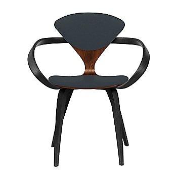 Classic Walnut Seat, Ebony Lacquer Arms & Legs / Divina 384
