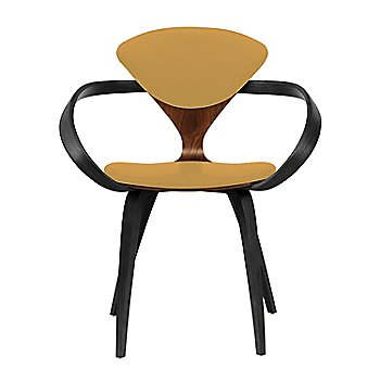 Classic Walnut Seat, Ebony Lacquer Arms & Legs / Divina 444