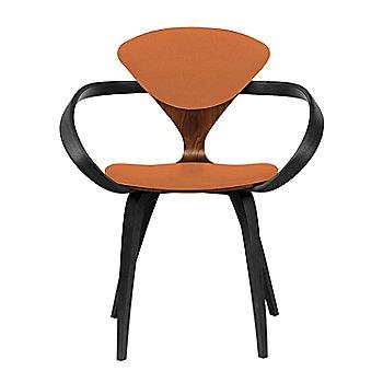 Classic Walnut Seat, Ebony Lacquer Arms & Legs / Divina 542