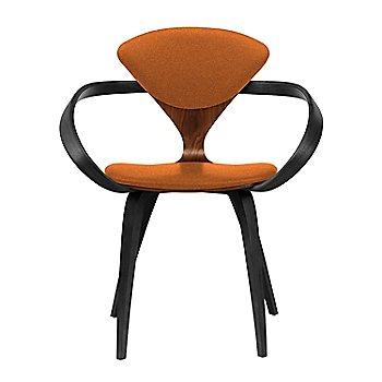 Classic Walnut Seat, Ebony Lacquer Arms & Legs / Divina 552